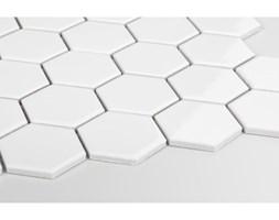 Heksagon duży, biały, szkliwiony
