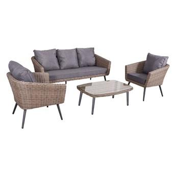 Nowoczesne meble z technorattanu ANTICO sofa 3 osobowa