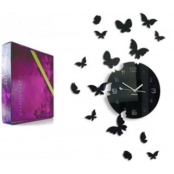 Zegar ścienny motyle motylki 30 cm