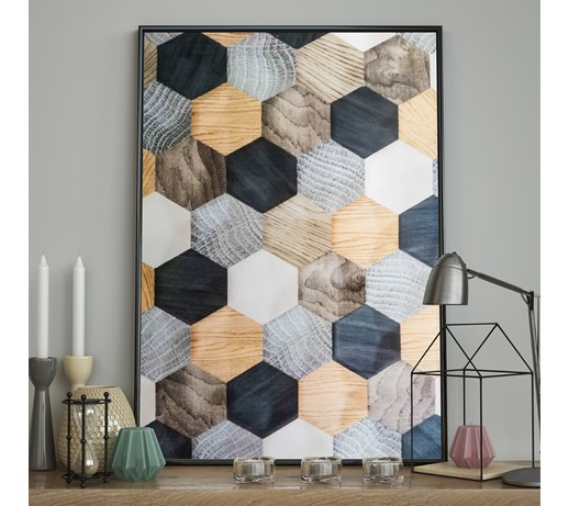 DecoKing - Plakat ścienny - Hexagon