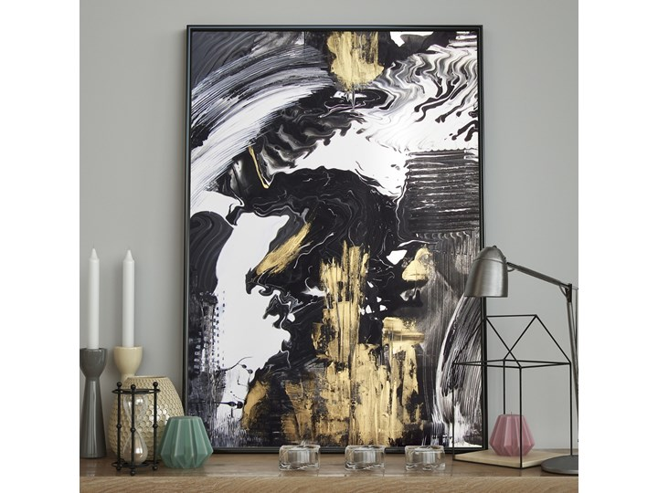 DecoKing – Plakat ścienny - Strokes – Black&Gold