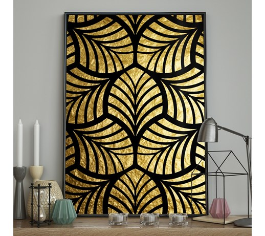 DecoKing – Plakat ścienny – Stained Glass - Gold