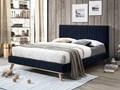 Łóżko granatowe tapicerowane 160 x 200 cm TALENCE Łóżko tapicerowane Rozmiar materaca 160x200 cm