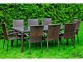 Zestaw obiadowy z czarnego technorattanu duży stół Stal Aluminium Stal Zawartość zestawu Z krzesłem Stoły z krzesłami Aluminium Zawartość zestawu Ze stołem