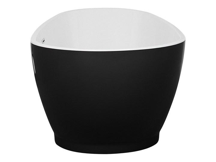 Wanna wolnostojąca czarna akrylowa 167 x 82 cm owalna Długość 173 cm Wolnostojące Kolor Czarny Kategoria Wanny