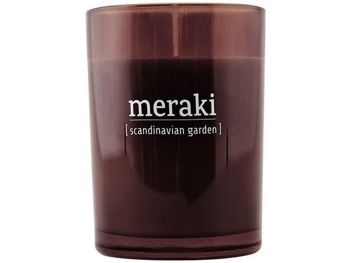 Świeca zapachowa Meraki w ciemnym szkle duża Scandinavian Garden