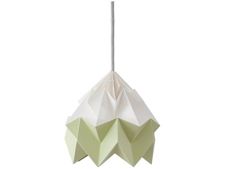 Lampa Moth dwukolorowa biało-zielona