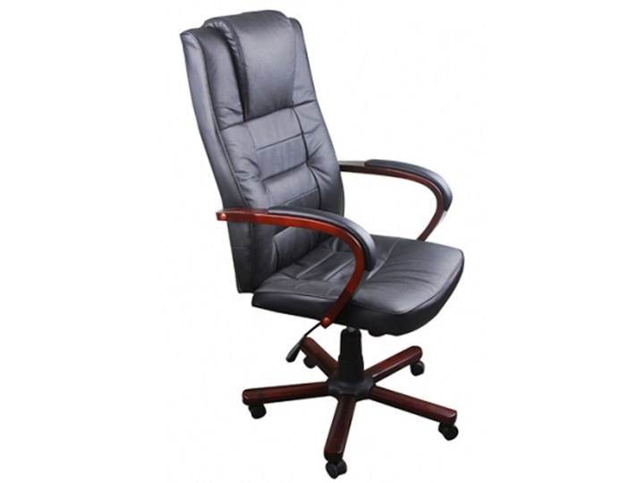 vidaXL Luksusowy fotel biurowy, czarny Fotel obrotowy Fotel obrotowy Fotel tradycyjny
