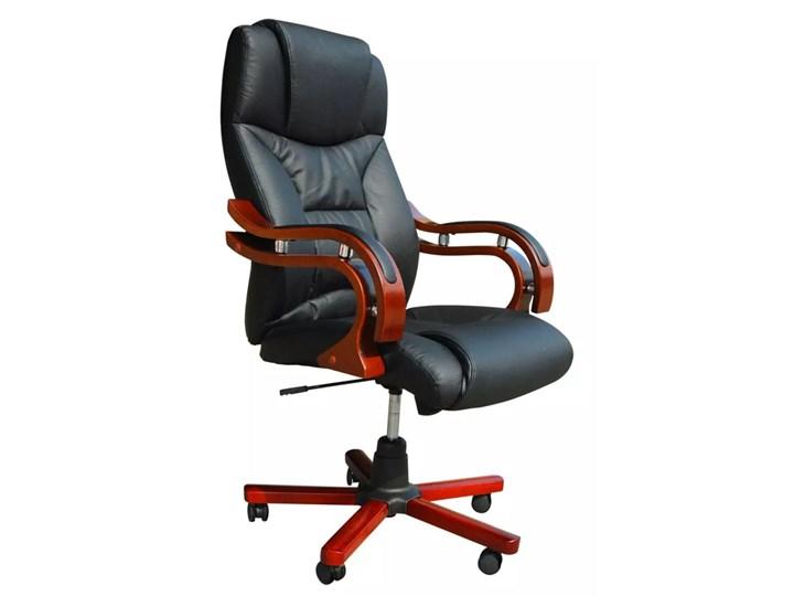 vidaXL Skórzany fotel biurowy, 64 x 68 x 108 cm Fotel tradycyjny Styl klasyczny