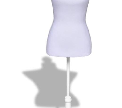 Unikalne vidaXL Manekin kobiecy, korpus, biały - Wieszaki na ubrania HN43