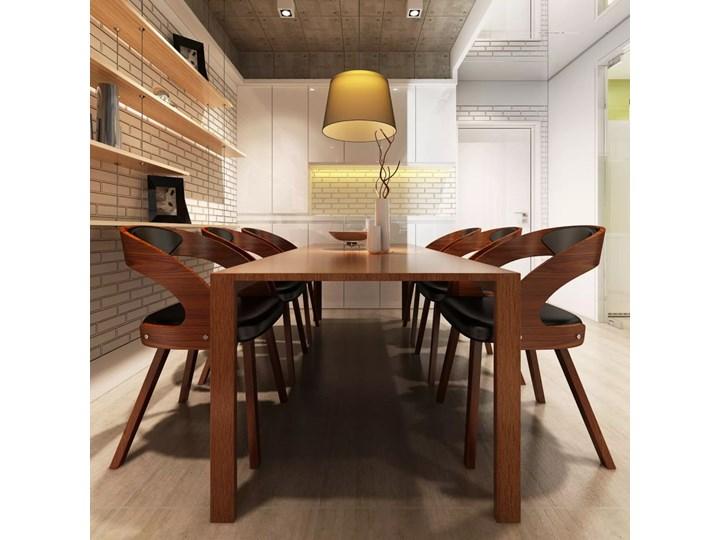 vidaXL Krzesła do jadalni, 6 szt., drewno i sztuczna skóra, brązowe Płyta MDF Szerokość 48,5 cm Głębokość 44 cm Tkanina Styl nowoczesny