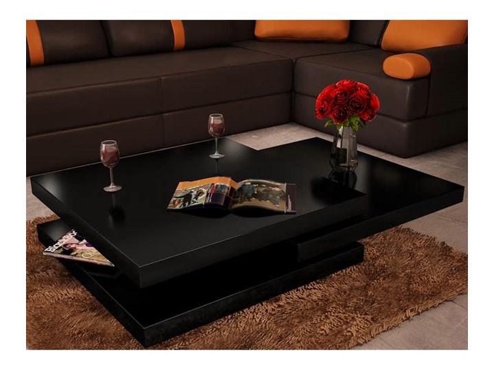 vidaXL 3-poziomowy stolik kawowy o wysokim połysku, czarny Styl nowoczesny