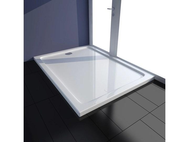 vidaXL Brodzik prysznicowy prostokątny ABS biały 80 x 110 cm Stal Wymiary 80x110 cm