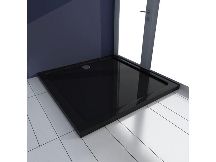vidaXL Brodzik kwadratowy czarny 90 x 90 cm