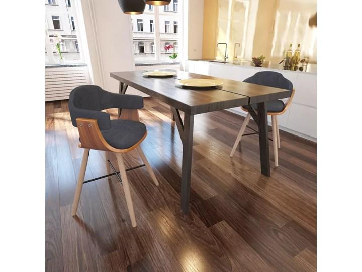 vidaXL Krzesła do jadalni Drewno+Materiał Styl klasyczny Tkanina Szerokość 40 cm Głębokość 38 cm Styl klasyczny