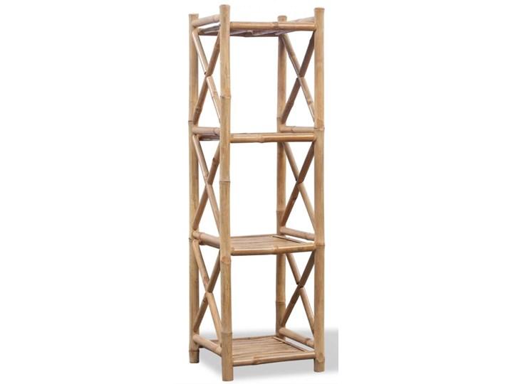 vidaXL 4 poziomowa bambusowa półka Na książki Styl nowoczesny