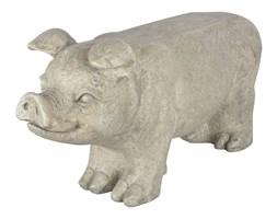 Esschert Design Kamienna ławka ogrodowa świnka, AV13, szara