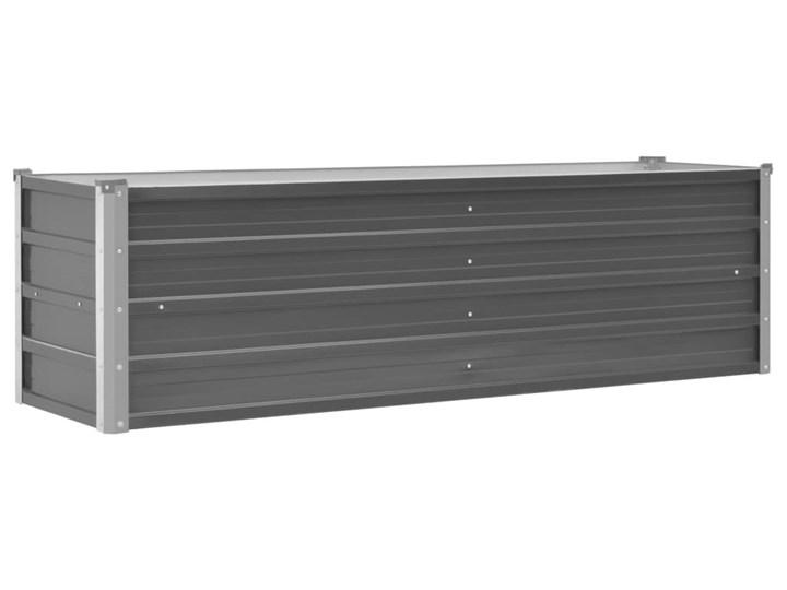vidaXL Donica ogrodowa z galwanizowanej stali, 160x40x45 cm, szara Donica balkonowa Metal
