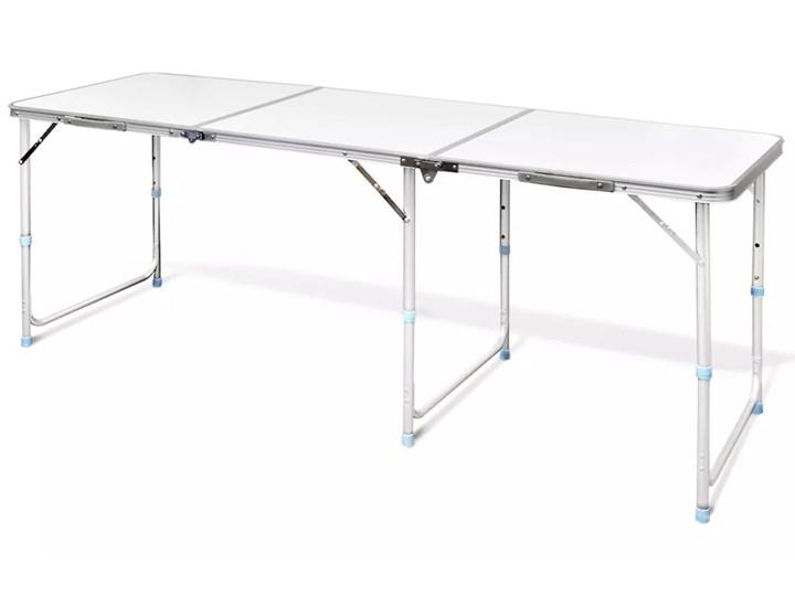 Vidaxl Składany Aluminiowy Stół Kempingowy Z Regulacją Wysokości 180 X 60 Cm