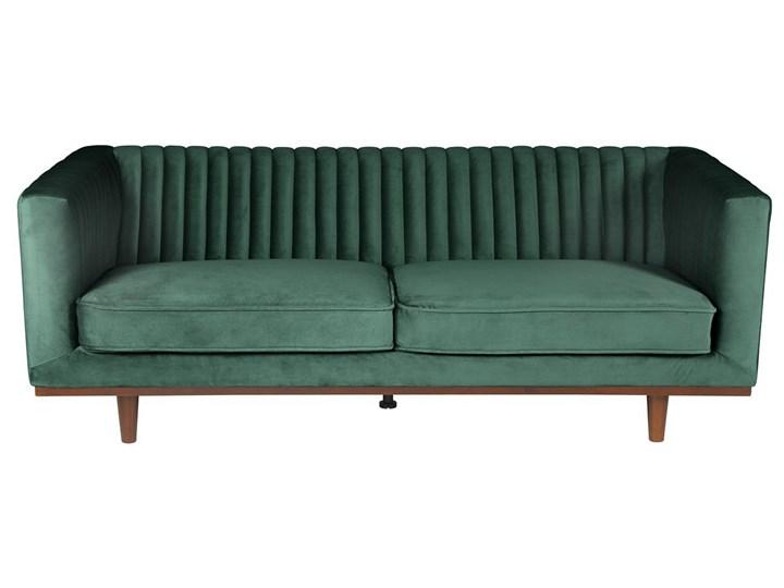Sofa Dante Emerald Green 3-osobowa, Kolor: zielony Materiał: welur Stała konstrukcja Stała konstrukcja Typ Gładkie