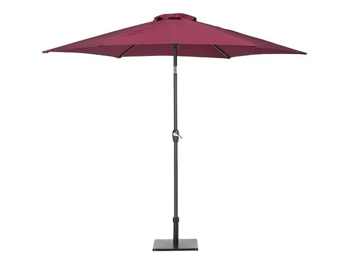 Parasol ogrodowy burgundowy składany 270 x 230 cm odchylany z korbą Parasole Kategoria Parasole ogrodowe Kolor Czerwony