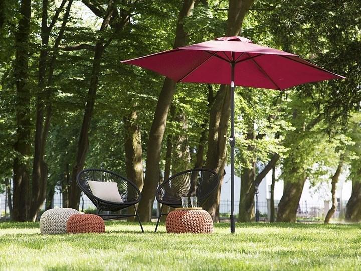 Parasol ogrodowy burgundowy składany 270 x 230 cm odchylany z korbą Kategoria Parasole ogrodowe Parasole Kolor Czerwony