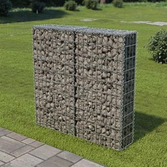 vidaXL Ściana gabionowa z pokrywami, stal galwanizowana, 100x20x100 cm