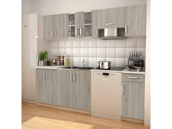 vidaXL Zestaw mebli kuchennych, stylizowany na dębowy, 240 cm