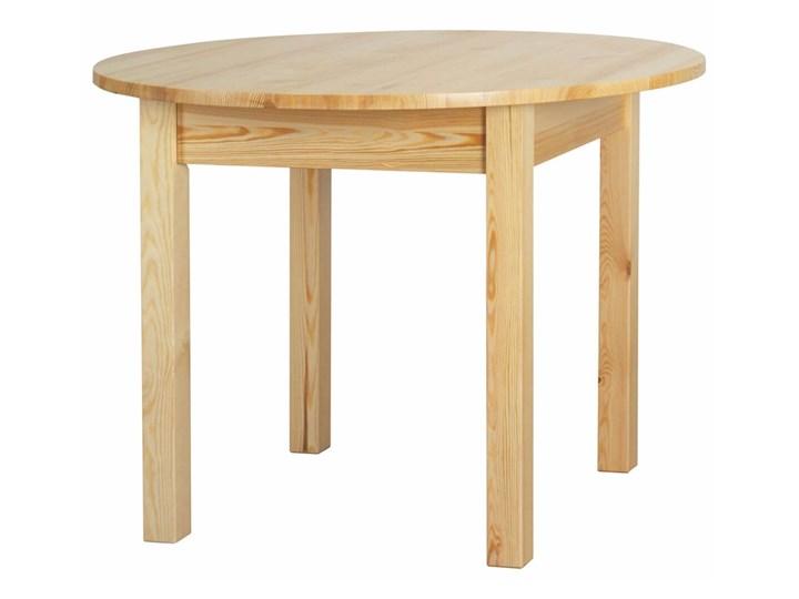 Stół Okrągły Ø103 Drewniany