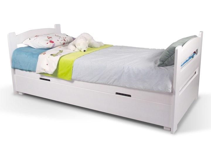 Łóżko Maja z pojemnikiem 90x200 Tradycyjne Drewno Kolor Beżowy