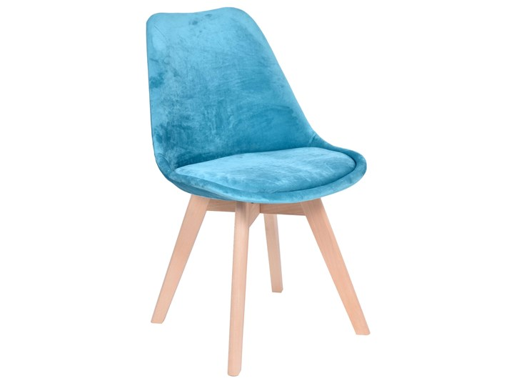 Krzesło tapicerowane Nantes Velvet morski Krzesła kuchenne