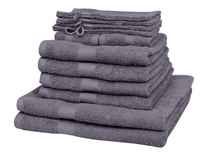 vidaXL Komplet 12 ręczników, bawełna, 500 g/m², antracytowy 30x50 cm Ręcznik do rąk Ręcznik kąpielowy frotte 15x21 cm 50x100 cm Rękawica kąpielowa Frotte 70x140 cm Komplet ręczników