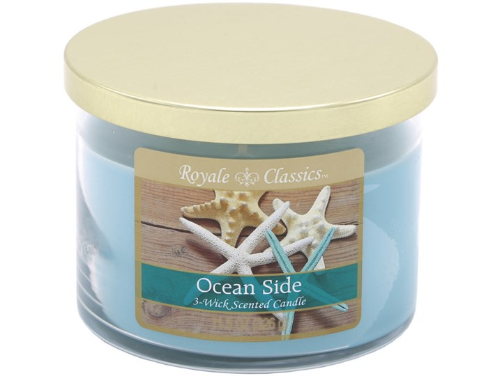 Candle-lite Royale Classics 11.5 oz luksusowa świeca zapachowa w szkle z trzema knotami - Ocean Side