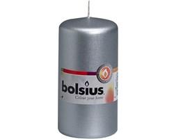 Bolsius Pillar Candle świeca bryłowa pieńkowa słupek 120/60 mm - Srebrna