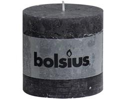 Bolsius Rustic XXL Pillar Candle świeca bryłowa pieńkowa rustykalna 100/100 mm - Antracytowy