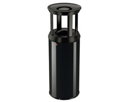Kosz na śmieci i popielniczka z pokrywąz przeciwpożarową 45l Hailo ProfiLine Combi plus XL