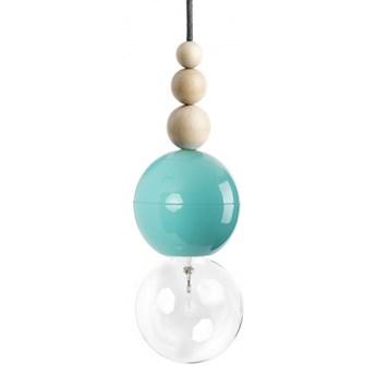 LOFT BALA MIĘTOWA lampa wisząca 1 x 60W E27 na kablu nowoczesna minimalistyczna miętowa zwis koraliki KOLOROWE KABLE LBMIB03
