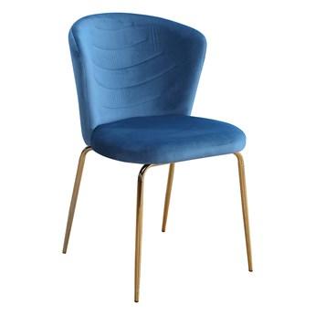 Krzesło VK  niebieski / złoty