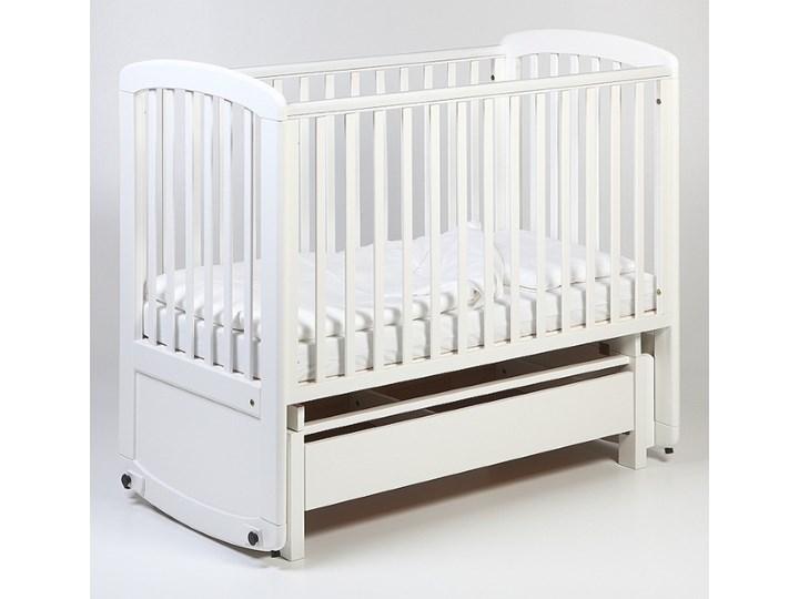 Troll Nursery De Lux Glider Cot drewniane łóżeczko z funkcją kołyski 120x60 białe