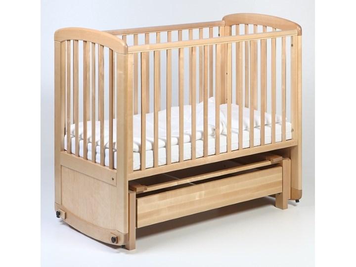 Troll Nursery De Lux Glider Cot drewniane łóżeczko z funkcją kołyski 120x60 naturalne