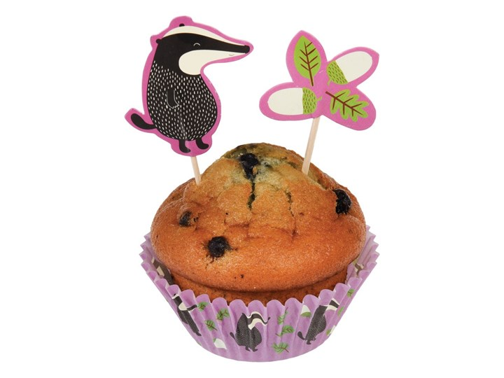 Zestaw papilotek i ozdób do ciastek Rex London Mr. Badger Zestawy do dekoracji Kategoria Dekoracja wypieków Kolor Wielokolorowy