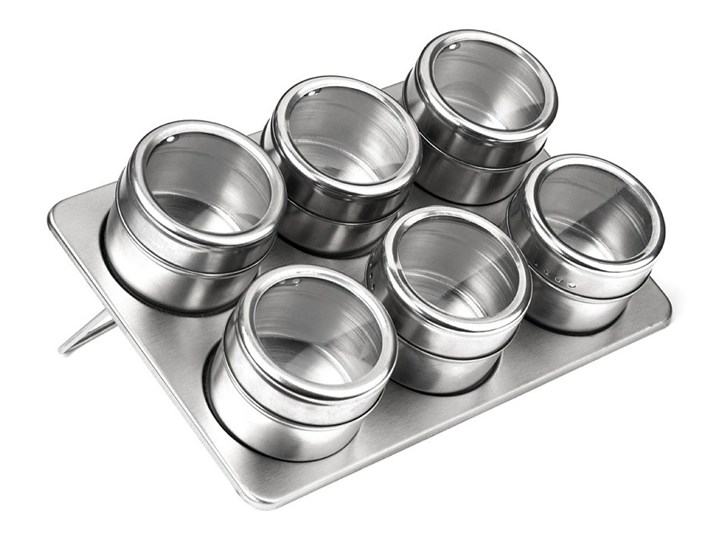 Zestaw 6 magnetycznych pojemników na przyprawy z podstawką Premier Housewares, 100 ml