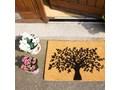 Wycieraczka z naturalnego kokosowego włókna Artsy Doormats Tree of Life, 40x60 cm Kategoria Wycieraczki Włókno kokosowe Kolor Pomarańczowy