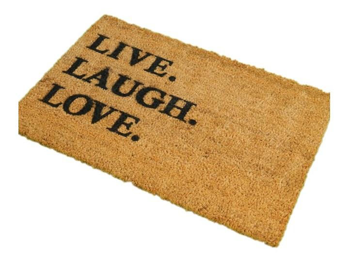 Wycieraczka z naturalnego kokosowego włókna Artsy Doormats Live Laugh Love, 40x60 cm Włókno kokosowe Kolor Brązowy Kategoria Wycieraczki