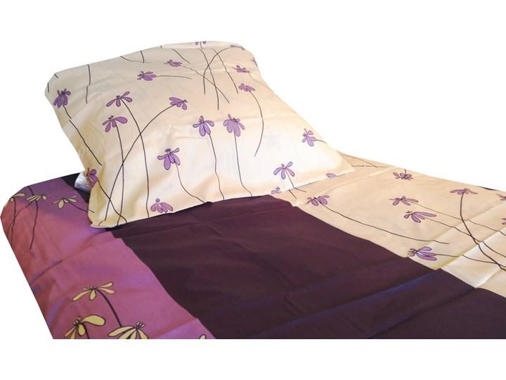 POŚCIEL satyna bawełniana, fioletowe stokrotki 200x220cm Bawełna Bawełna 160x200 cm 200x220 cm Rozmiar poduszki 70x80 cm