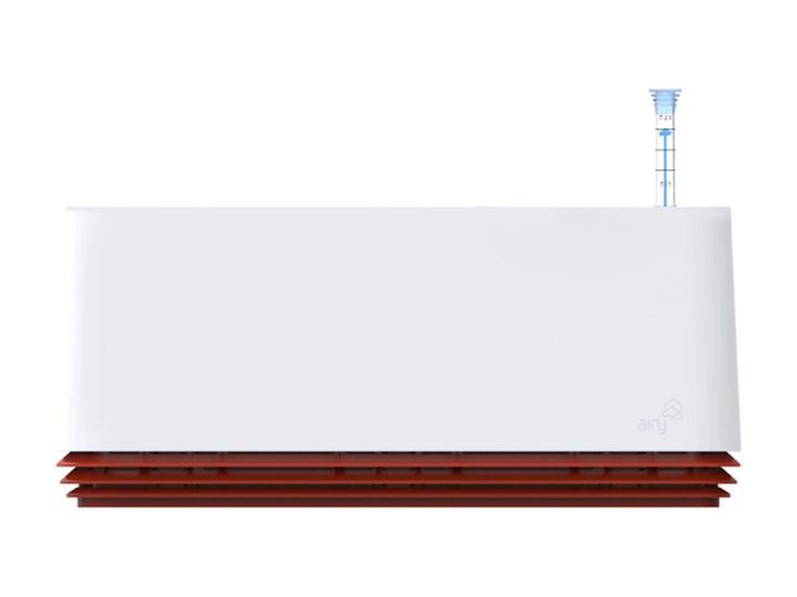 Prostokątna Doniczka Antysmogowa Airy L antyczny biały