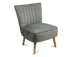 Fotel klubowy wypoczynkowy miękki skandynawski retro do salonu F506G szary