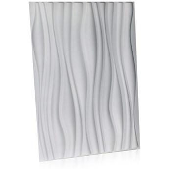 Panel ścienny dekoracjny na ścianę 3D z włókniny ozdobny biały INREDA