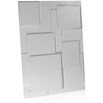 Panel ścienny dekoracjny na ścianę 3D z włókniny ozdobny biały CHOC
