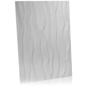 Panel ścienny dekoracjny na ścianę 3D z włókniny ozdobny biały BEACH